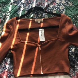 NWT Pacsun Long Sleeve Cropped